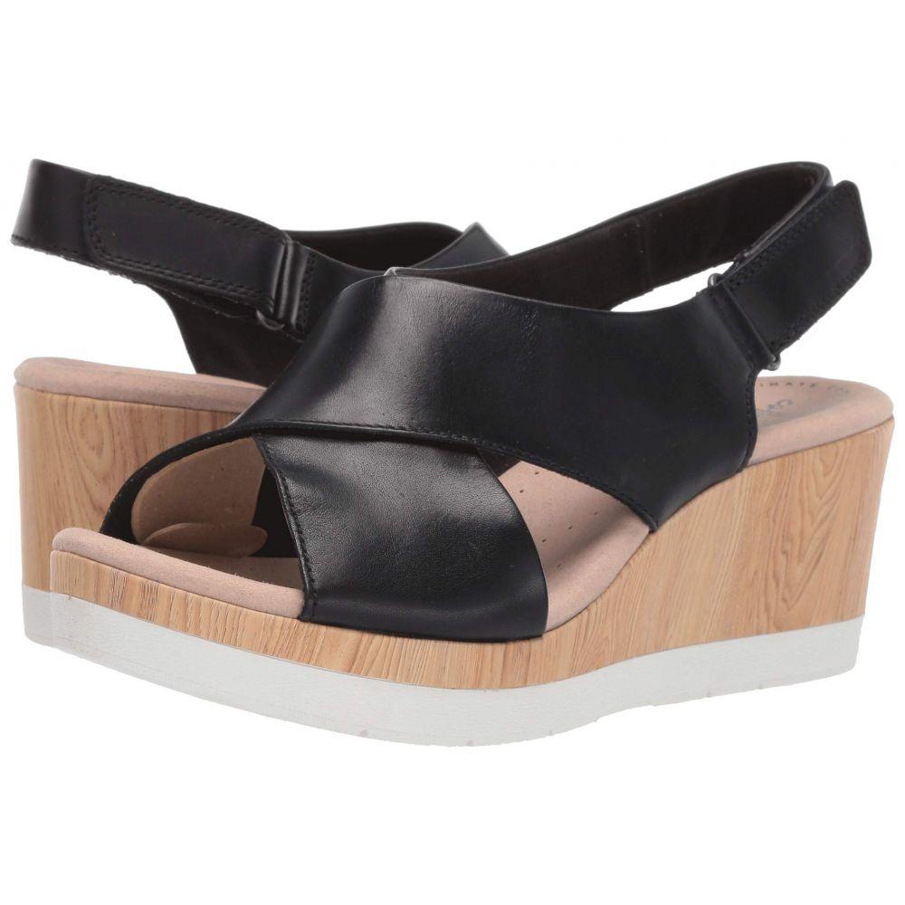 クラークス Clarks レディース サンダル・ミュール シューズ・靴【Cammy Pearl】Black Leather