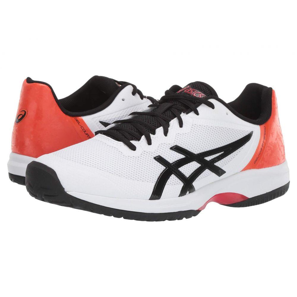 アシックス メンズ テニス シューズ・靴 White/Black 【サイズ交換無料】 アシックス ASICS メンズ テニス シューズ・靴【Gel-Court Speed】White/Black