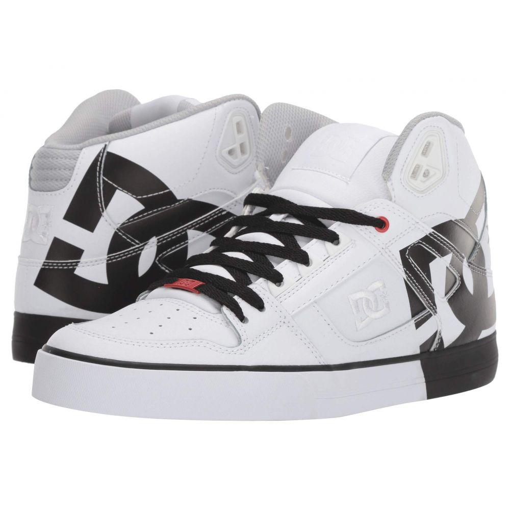 ディーシー DC メンズ スニーカー シューズ・靴【Pure High-Top WC】White/Black Stencil