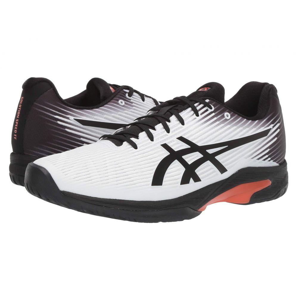 アシックス メンズ テニス シューズ・靴 White/Black 【サイズ交換無料】 アシックス ASICS メンズ テニス シューズ・靴【Solution Speed FF】White/Black