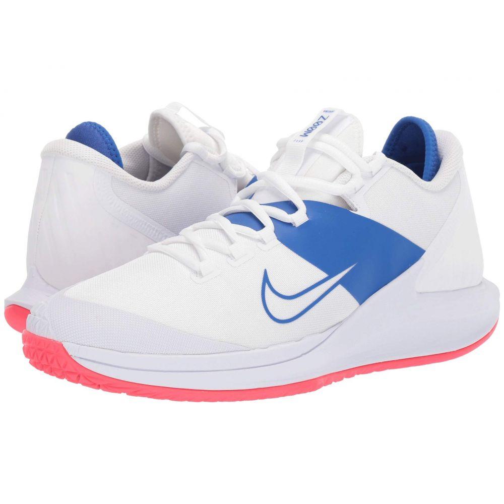 ナイキ Nike メンズ スニーカー エアズーム シューズ・靴【Court Air Zoom Zero HC】White/White/Game Royal/Flash Crimson