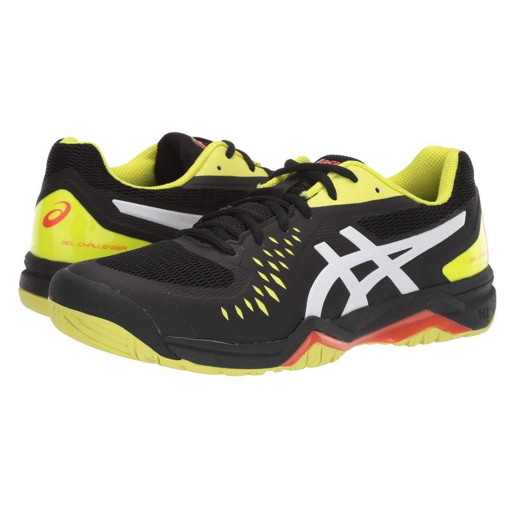 アシックス メンズ テニス シューズ・靴 Black/Sour Yuzu 【サイズ交換無料】 アシックス ASICS メンズ テニス シューズ・靴【Gel-Challenger 12】Black/Sour Yuzu