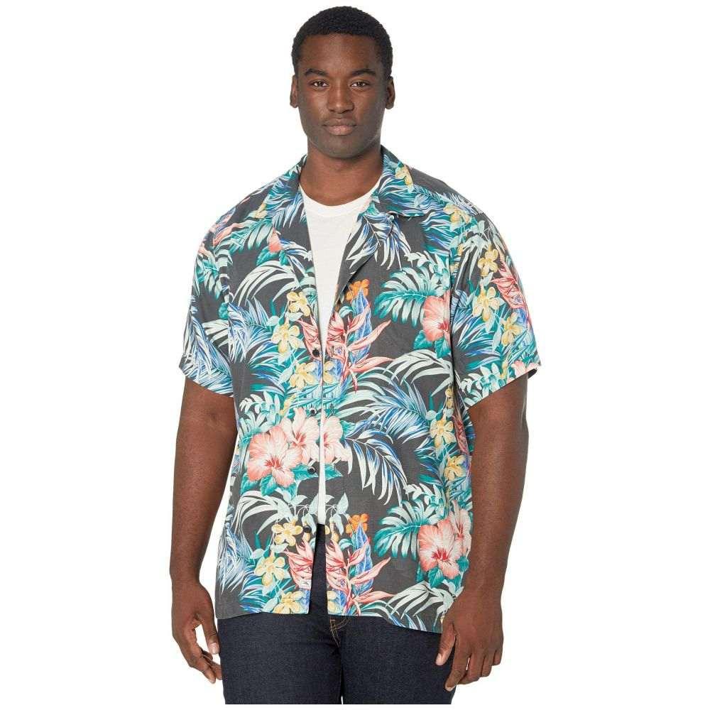 トミー バハマ Tommy Bahama Big & Tall メンズ シャツ トップス【Garden Paradise Camp Shirt】Onyx