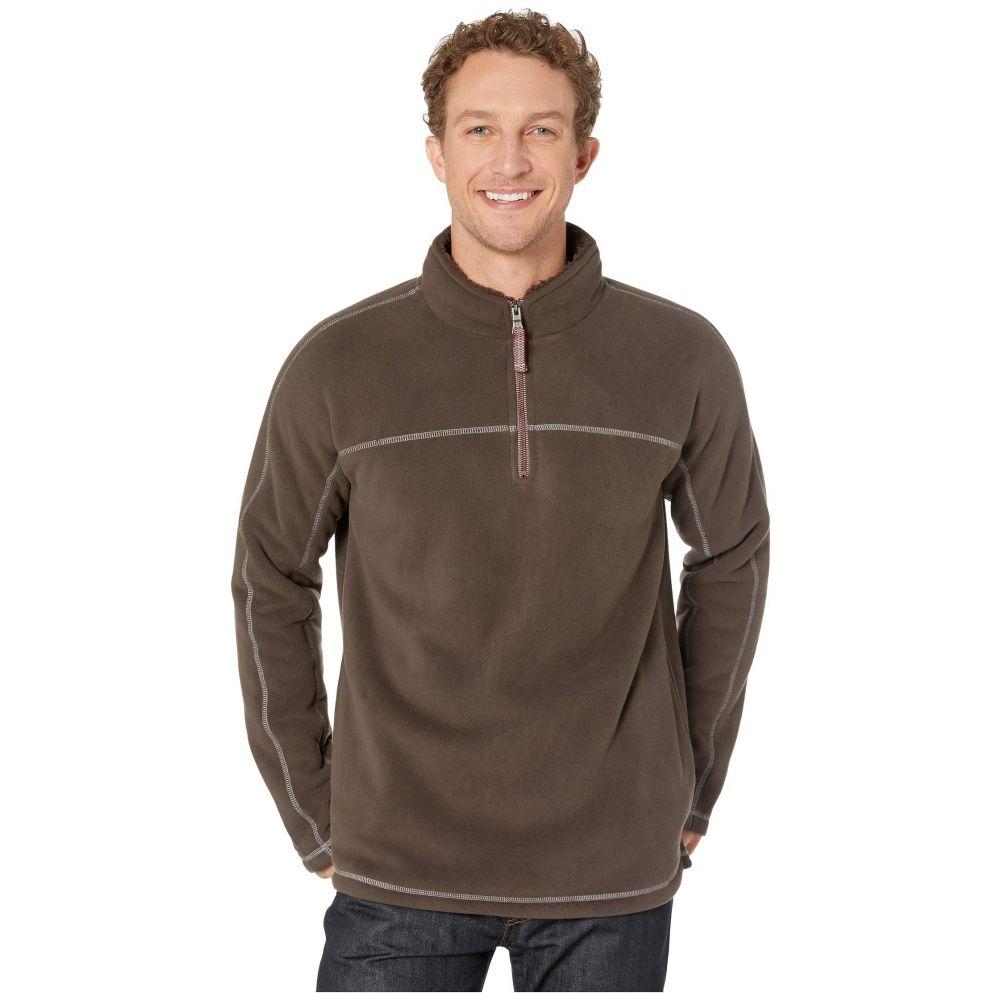 トゥルーグリット True Grit メンズ フリース トップス【Bonded Polar Fleece and Sherpa 1/4 Zip Pullover】Vintage Brown