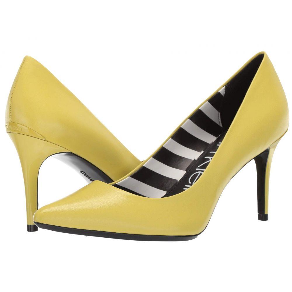 カルバンクライン Calvin Klein レディース パンプス シューズ・靴【Gayle Pump】Lime Leather Stripes