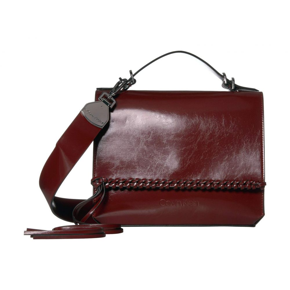 カルバンクライン Calvin Klein レディース ショルダーバッグ バッグ【Fringe Glazed Patent Shoulder Bag】Country Red