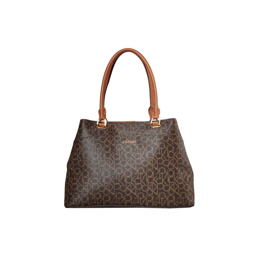 カルバンクライン Calvin Klein レディース トートバッグ バッグ【Hudson Signature Tote】Brown/Khaki/Luggage