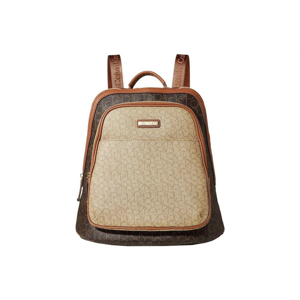 カルバンクライン Calvin Klein レディース バックパック・リュック バッグ【Monogram Backpack】Brown/Khaki Combo