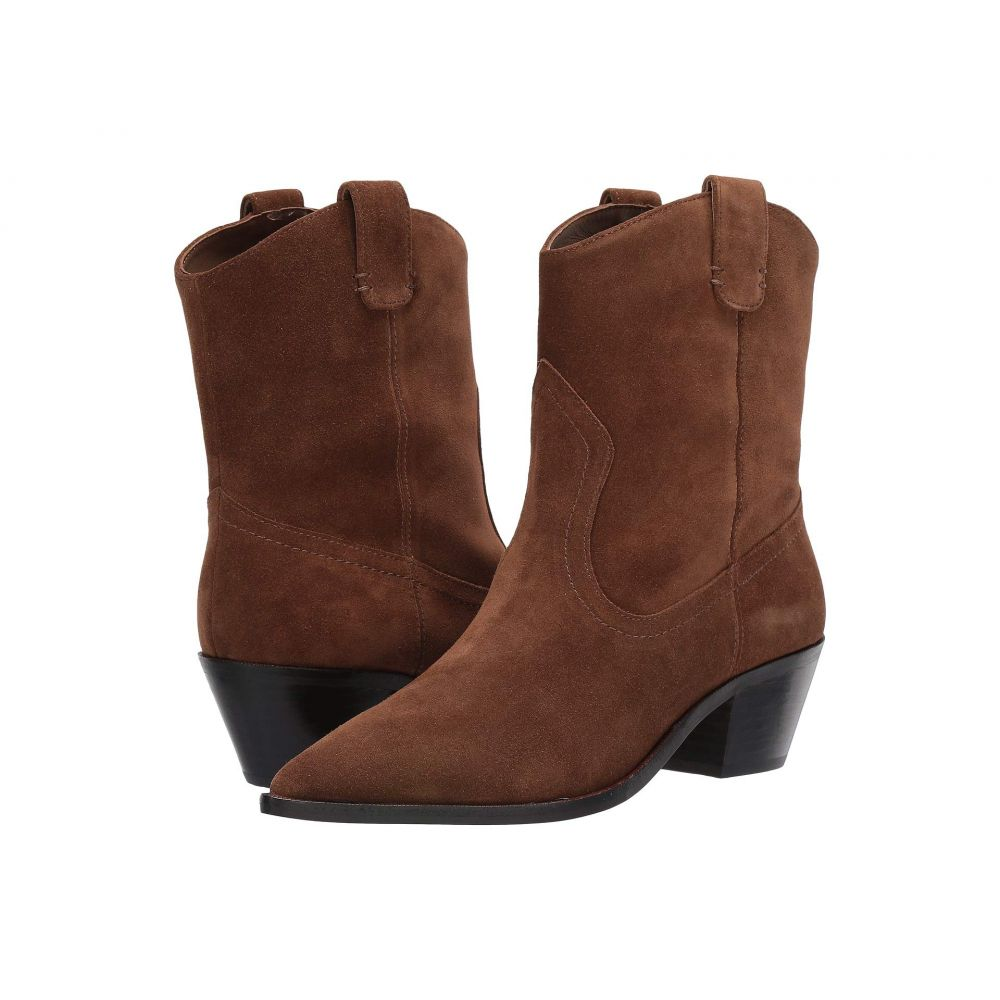 ジェイクルー J.Crew レディース ブーツ ウエスタンブーツ シューズ・靴【Calf Suede Western Tanner Boot】Dark Pecan