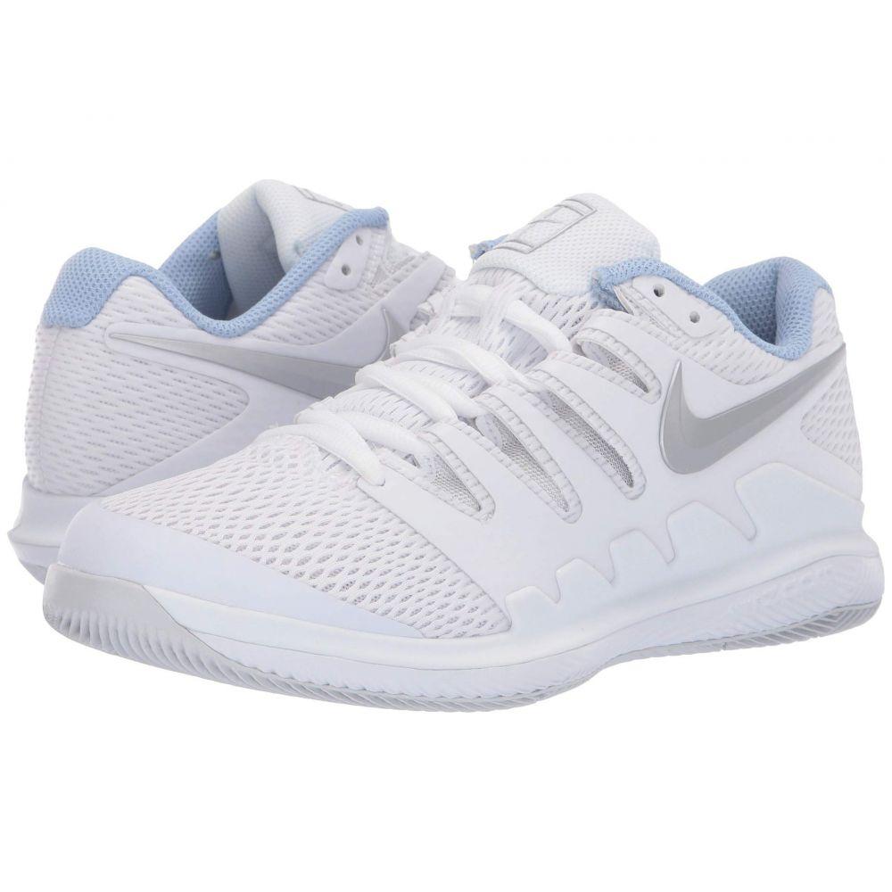 ナイキ Nike レディース テニス エアズーム シューズ・靴【Air Zoom Vapor X】White/Metallic Silver/Pure Platinum