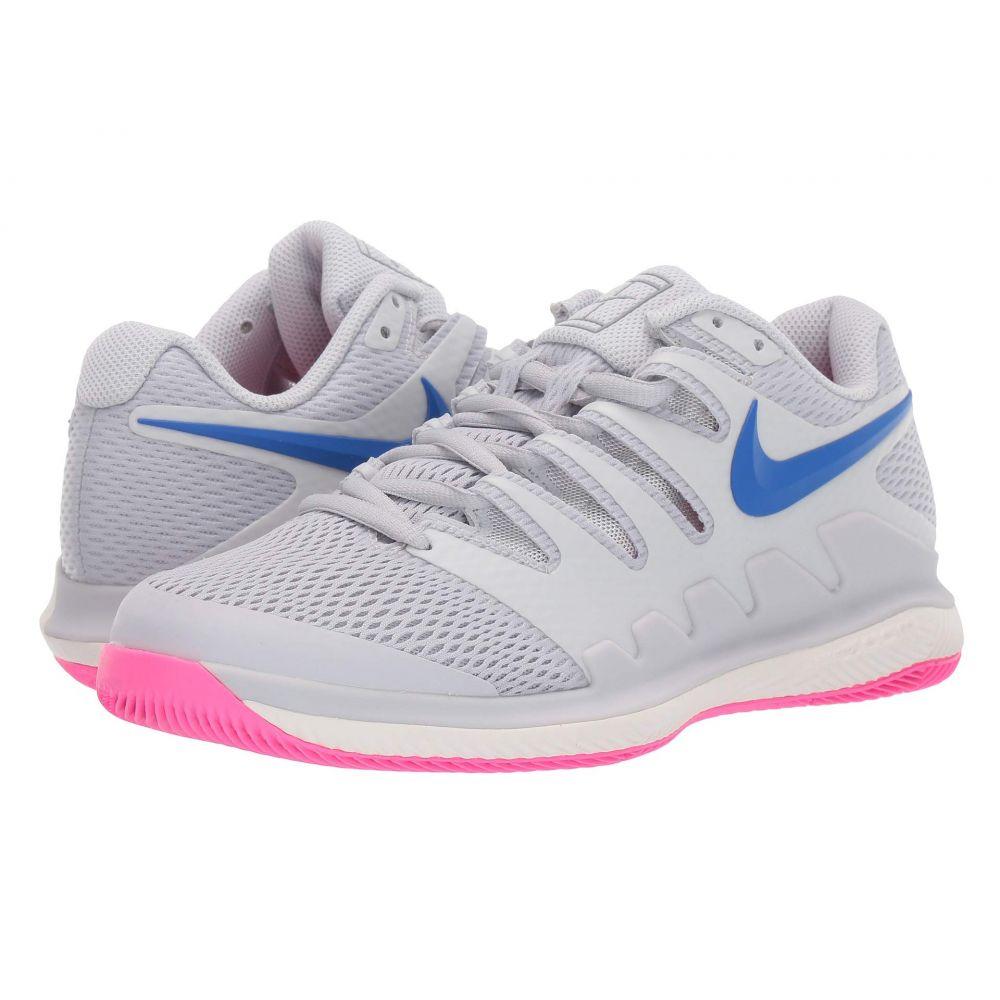 ナイキ レディース テニス シューズ・靴 Pure Platinum/Racer Blue/Metallic Platinum 【サイズ交換無料】 ナイキ Nike レディース テニス エアズーム シューズ・靴【Air Zoom Vapor X】Pure Platinum/Racer Blue/Metallic Platinum