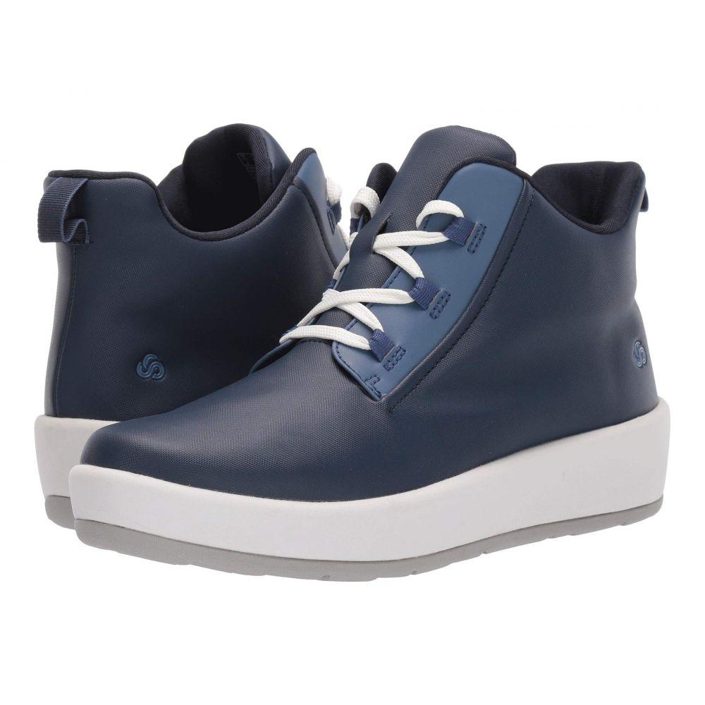 クラークス Clarks レディース ブーツ シューズ・靴【Step North Mid】Navy Synthetic