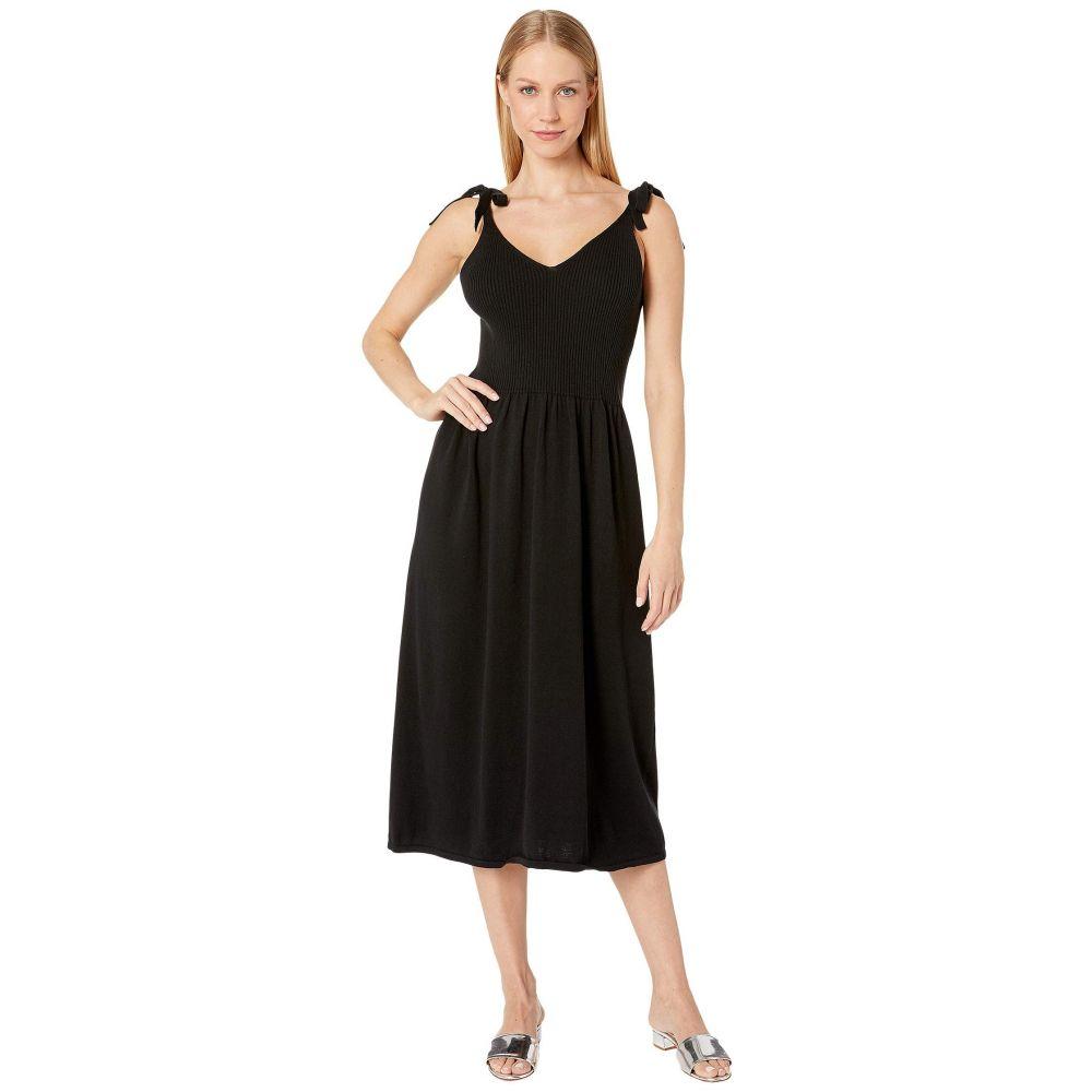 マイケルスターズ Michael Stars レディース ワンピース ワンピース・ドレス【Cotton Knits Maria Ribbed Knit Dress with Tie Straps】Black