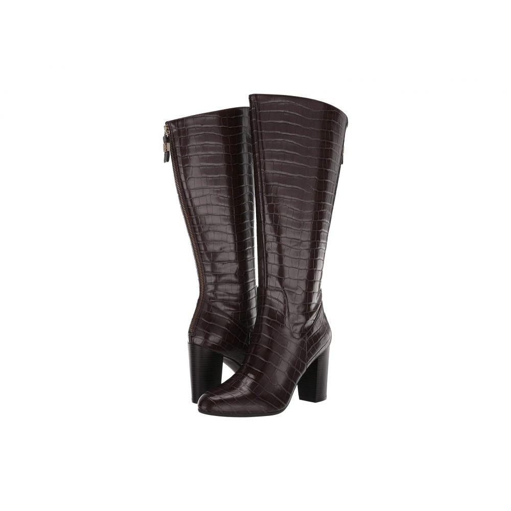 アン クライン Anne Klein レディース ブーツ シューズ・靴【Nastya Wide Calf】Dark Brown