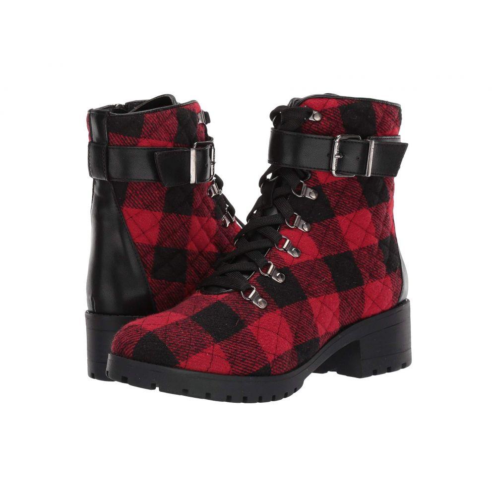 アン クライン Anne Klein レディース ブーツ シューズ・靴【Leandra】Red/Black