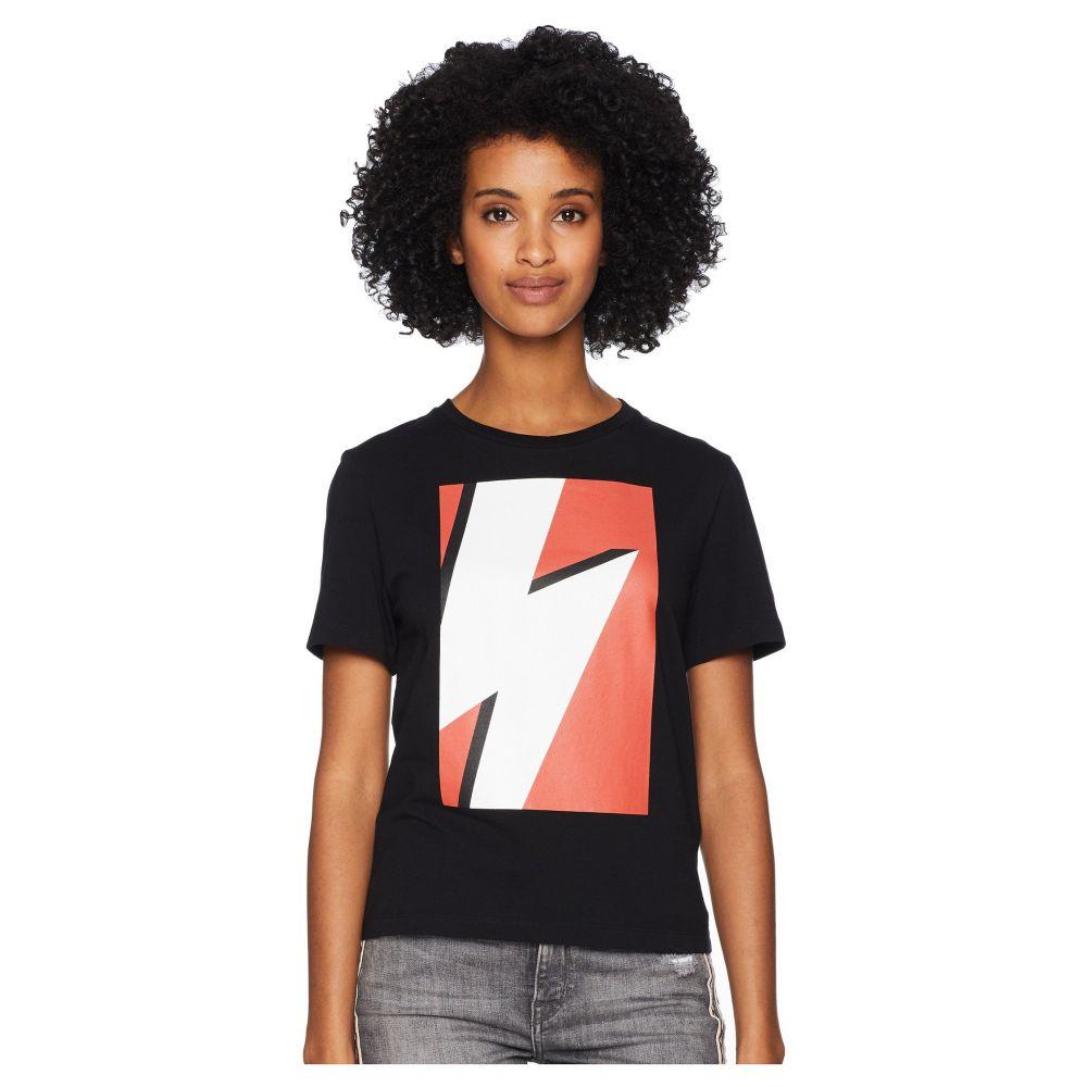 ニール バレット Neil Barrett レディース Tシャツ トップス【Pop Art Thunderbolt T-Shirt】Black/Red