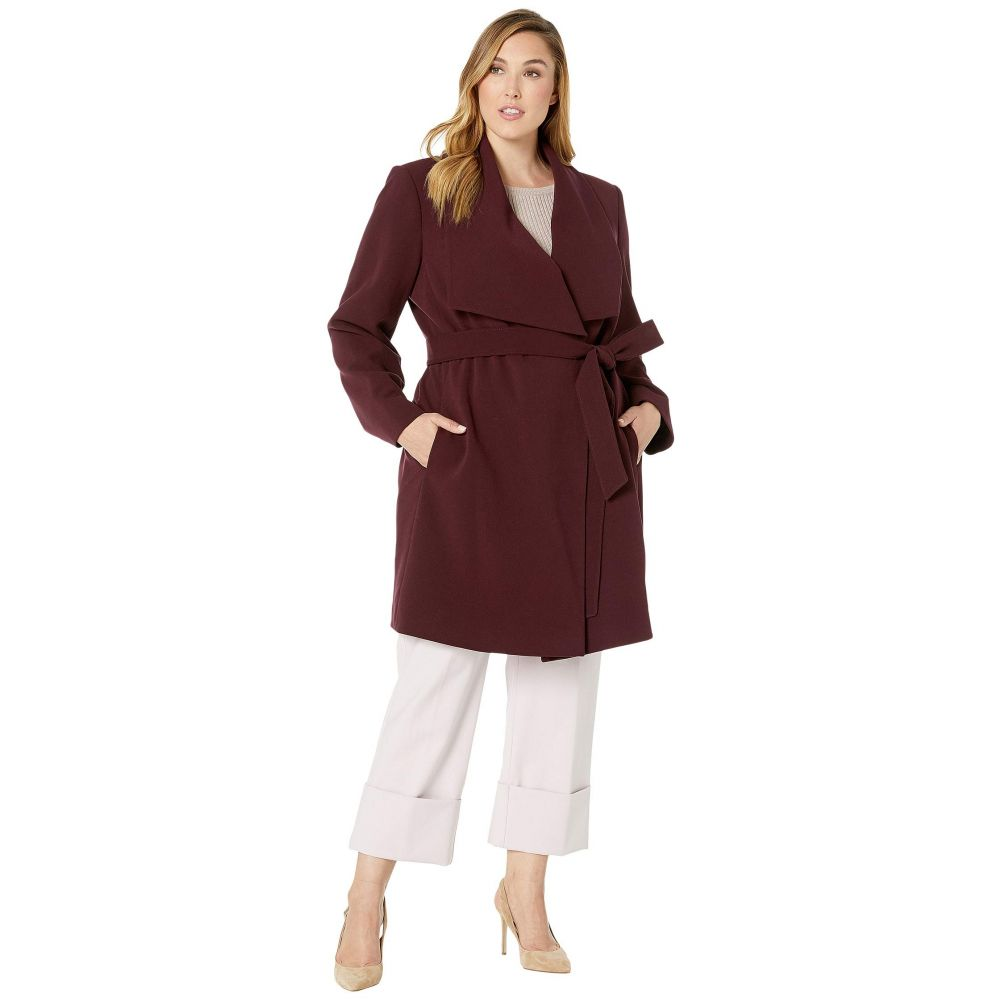 ラルフ ローレン LAUREN Ralph Lauren レディース コート 大きいサイズ アウター【Plus Size Drape Front Belted Coat】Merlot