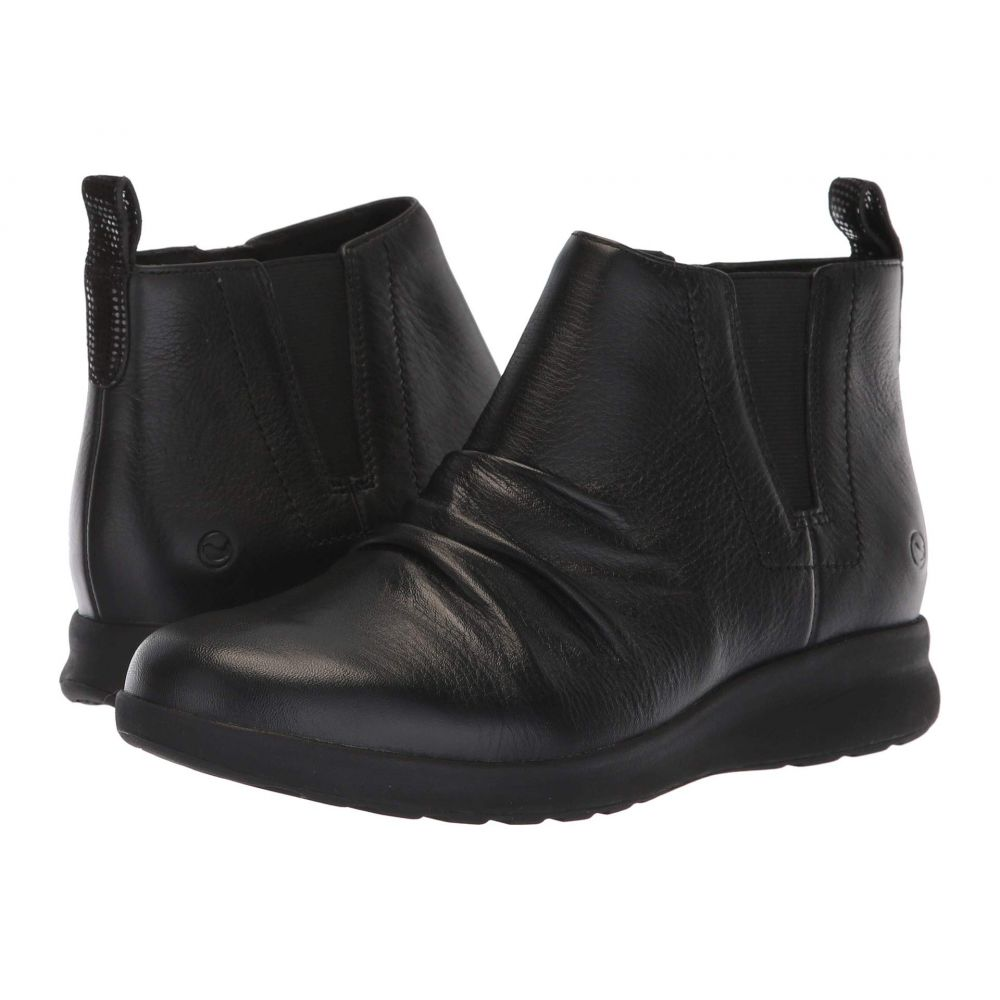クラークス Clarks レディース ブーツ シューズ・靴【Un Adorn Mid】Black Leather