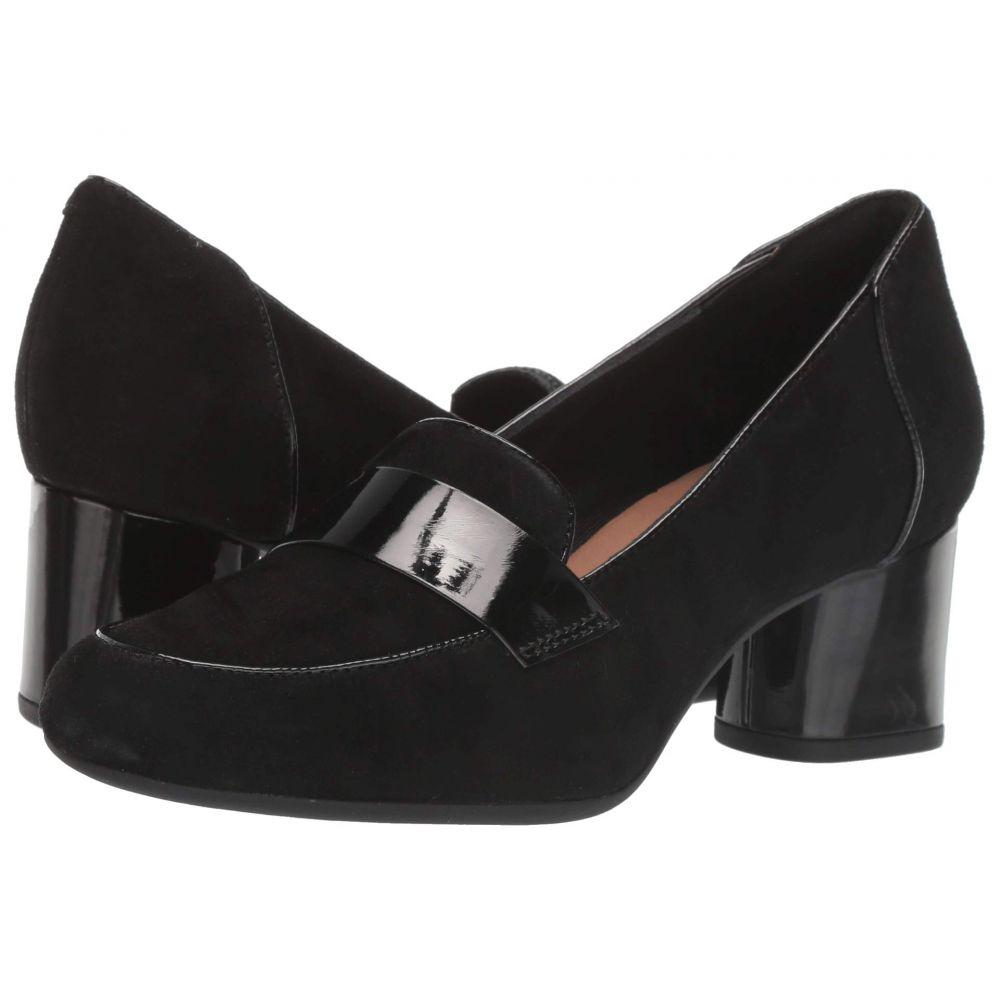クラークス Clarks レディース パンプス シューズ・靴【Un Cosmo Way】Black Suede/Patent Combi