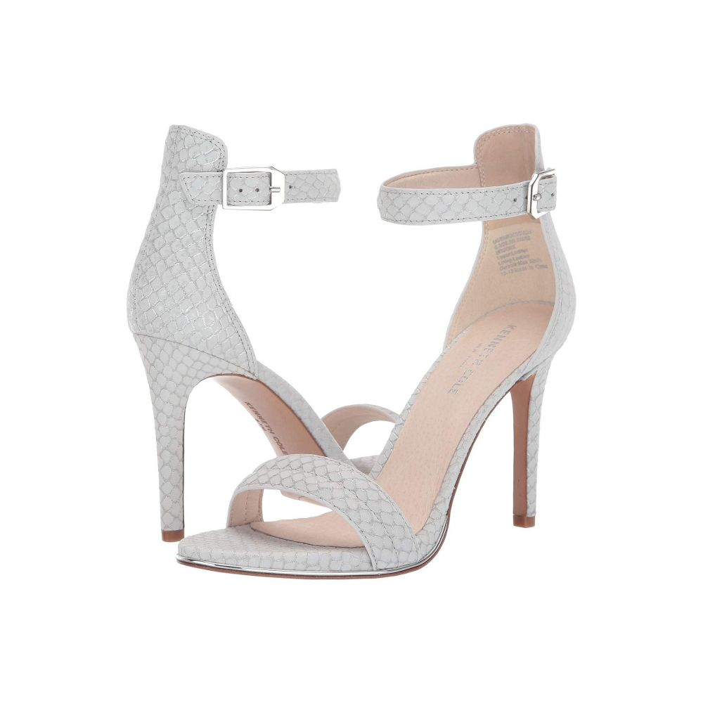 ケネス コール Kenneth Cole New York レディース サンダル・ミュール シューズ・靴【Brooke】White/Silver Embossed Leather