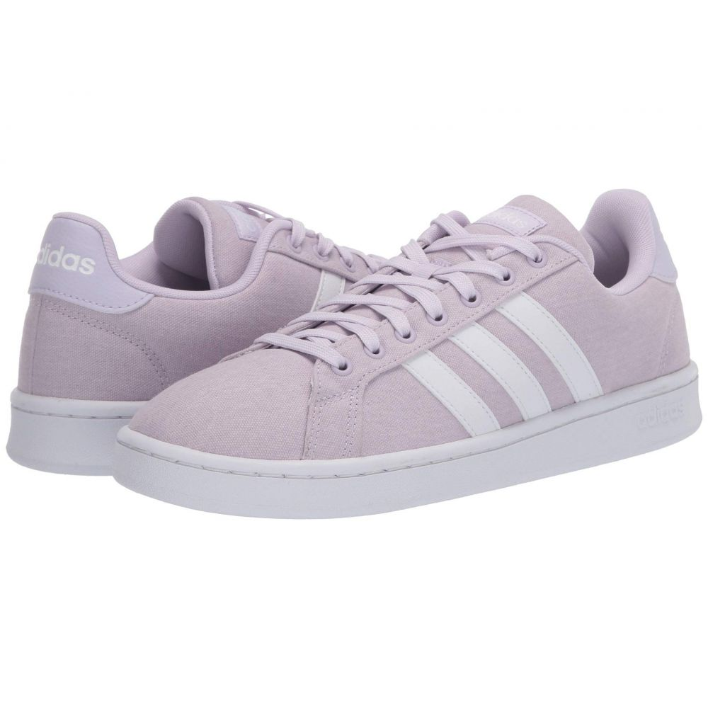 アディダス adidas レディース スニーカー シューズ・靴【Grand Court】Purple Tint/Footwear White/Footwear White