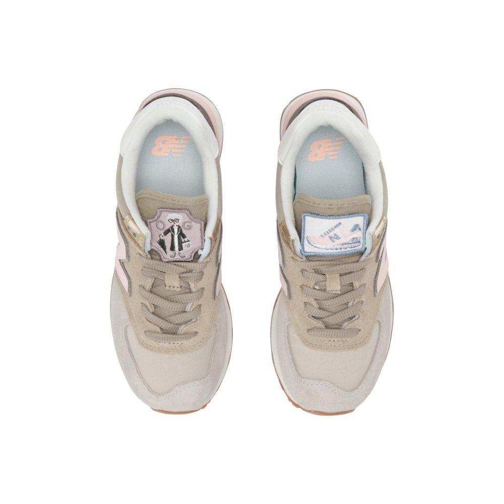 ニューバランス New Balance Classics レディース スニーカー シューズ・靴【574 Metallic Patch】Light Cliff Grey/Light Gold