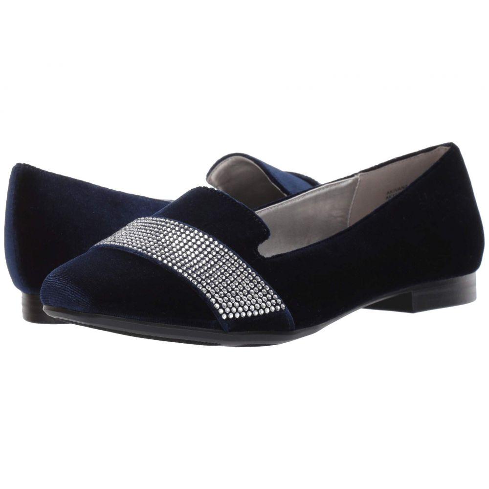 アン クライン Anne Klein レディース スリッポン・フラット シューズ・靴【Ivana】Navy Velvet