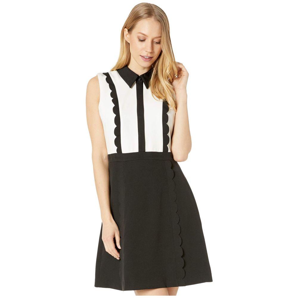 ベッツィ ジョンソン Betsey Johnson レディース ワンピース ミニ丈 ワンピース・ドレス【Color-Block Mini Dress with Collar】Onyx/Pearl