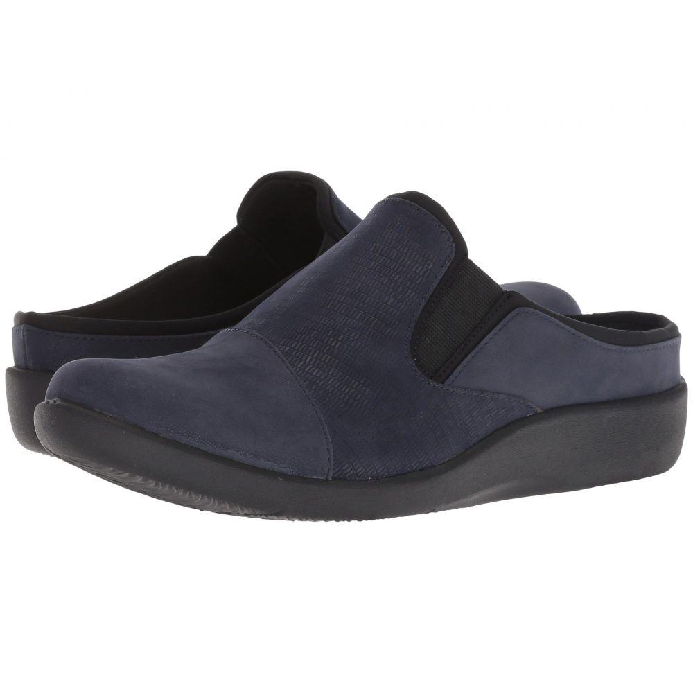 クラークス Clarks レディース サンダル・ミュール シューズ・靴【Sillian Free】Navy Synthetic Combi