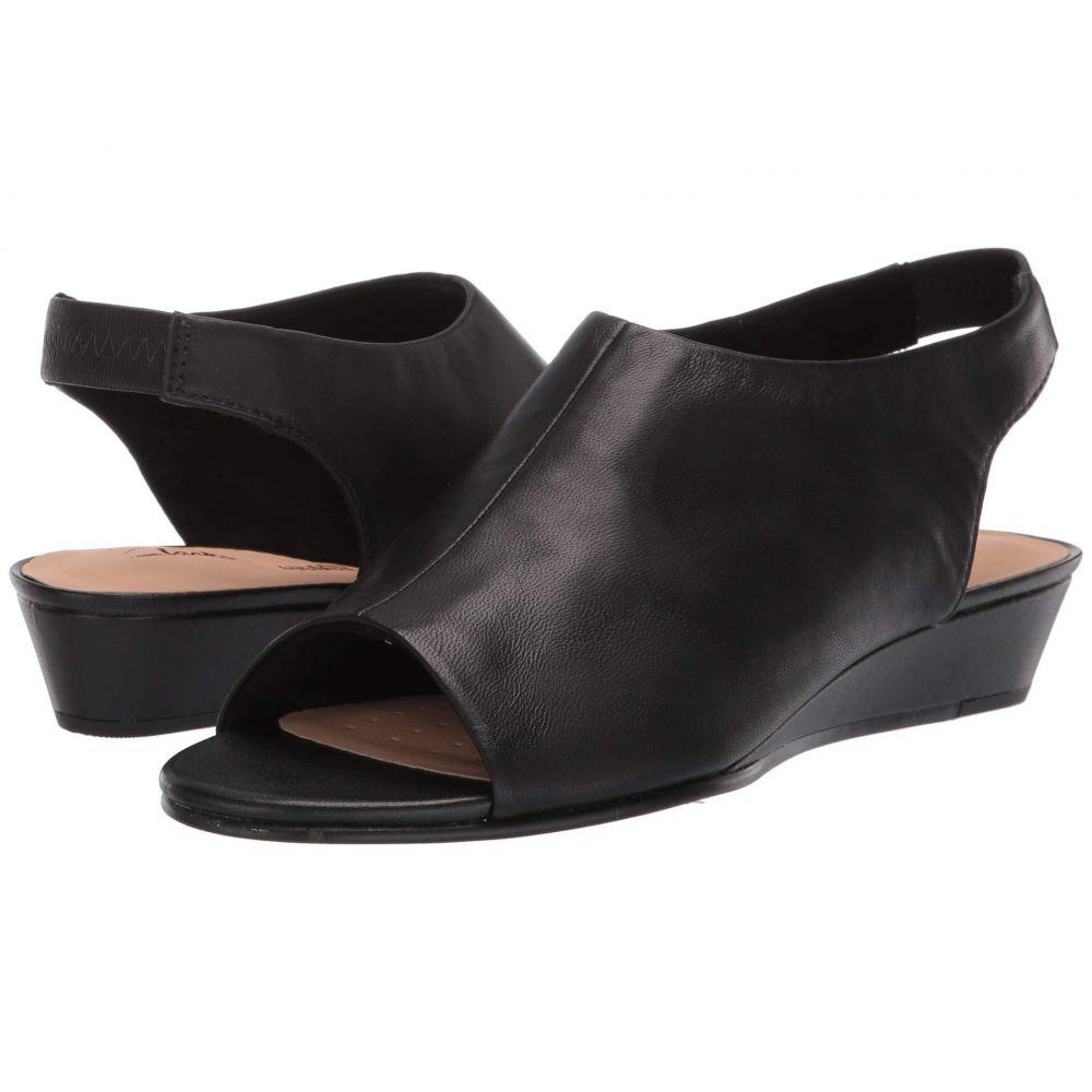 クラークス Clarks レディース サンダル・ミュール シューズ・靴【Sense Silk】Black Leather