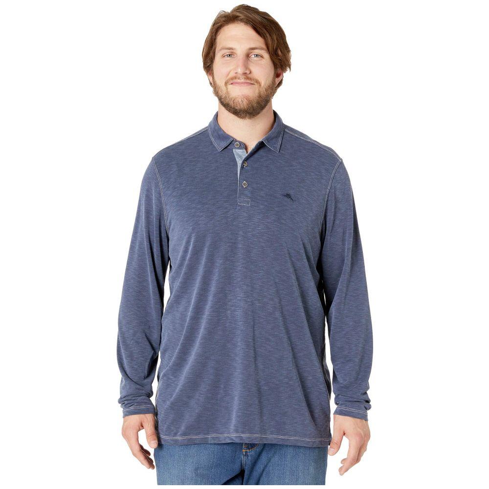 トミー バハマ Tommy Bahama Big & Tall メンズ ポロシャツ 大きいサイズ トップス【Big & Tall Palmetto Paradise Polo Shirt】Denim
