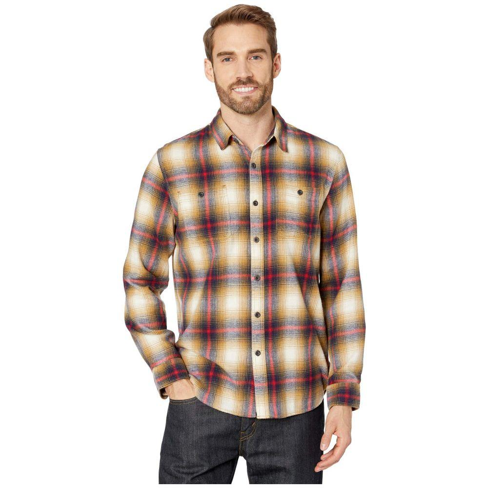 トゥルーグリット True Grit メンズ シャツ フランネルシャツ トップス【Highway 1 Roadtrip Sundance Soft Flannel Plaid Long Sleeve Two-Pocket Shirt】Brown