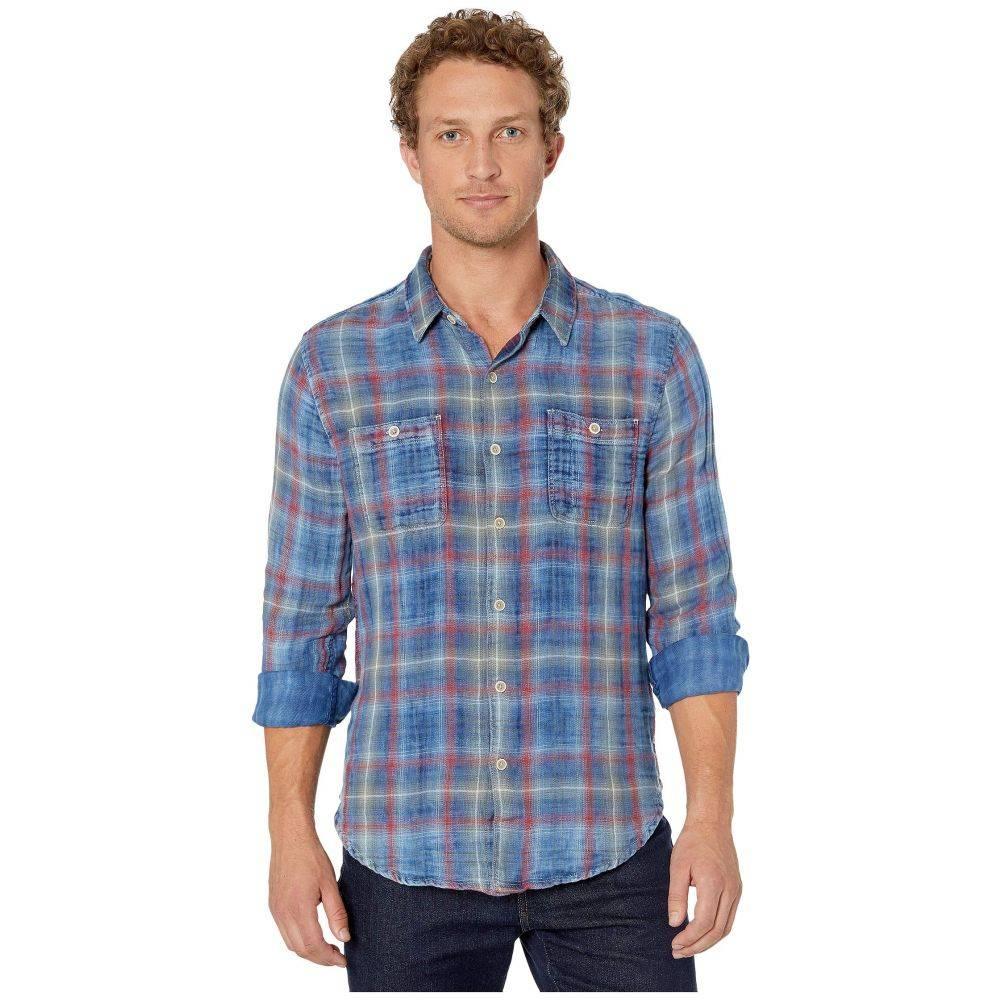 トゥルーグリット True Grit メンズ シャツ トップス【Route 66 Double Weave Redrock Long Sleeve Two-Pocket Shirt】Indigo