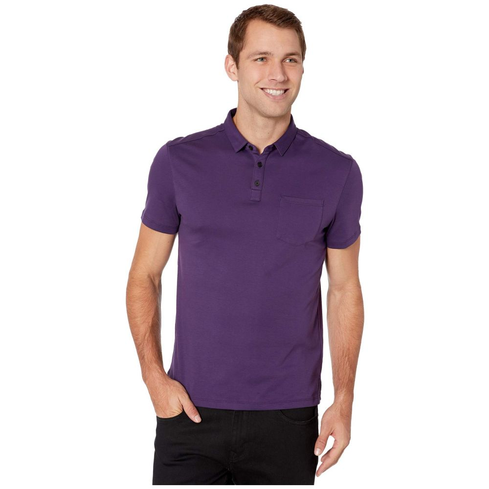 ジョン バルベイトス John Varvatos Star U.S.A. メンズ ポロシャツ 半袖 トップス【Burlington Short Sleeve Classic Fit Cotton Interlock Polo K4525V3B】Purple