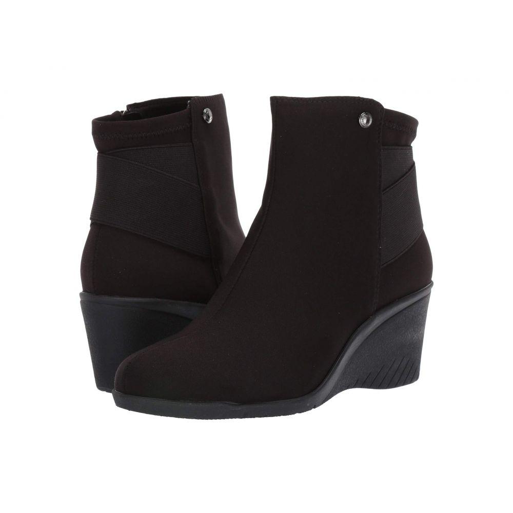 アン クライン Anne Klein レディース ブーツ シューズ・靴【Arora】Black Fabric