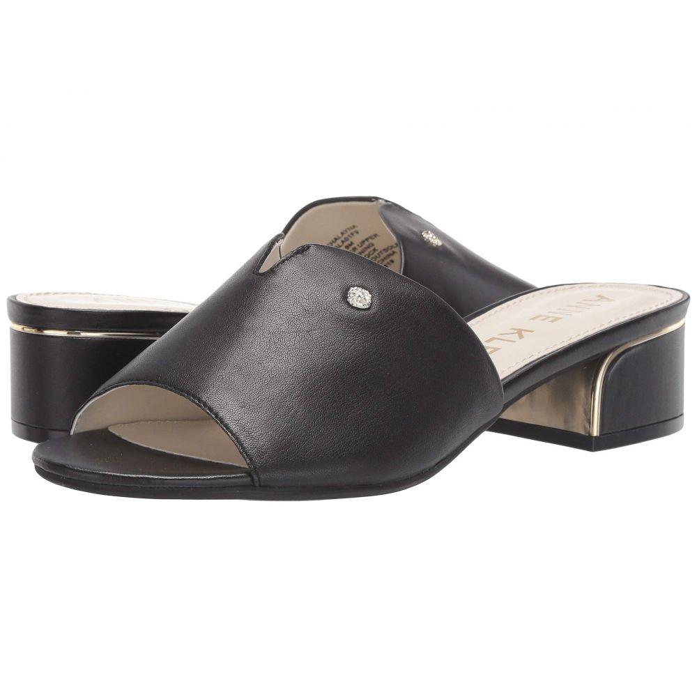 アン クライン Anne Klein レディース サンダル・ミュール シューズ・靴【Halayna】Black Leather
