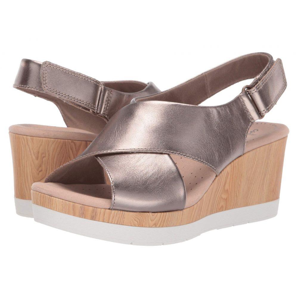 クラークス Clarks レディース サンダル・ミュール シューズ・靴【Cammy Pearl】Pewter Leather