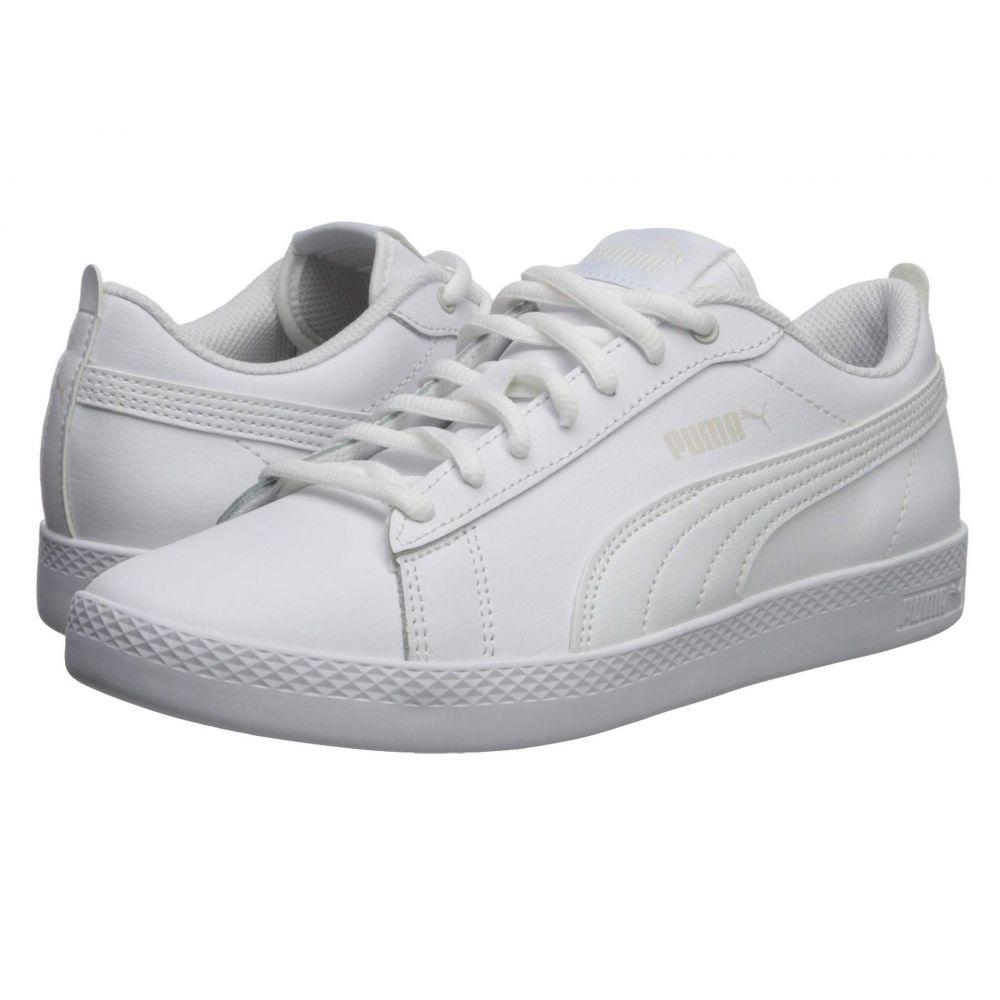 プーマ PUMA レディース スニーカー シューズ・靴【Smash V2 L】Puma White/Puma White