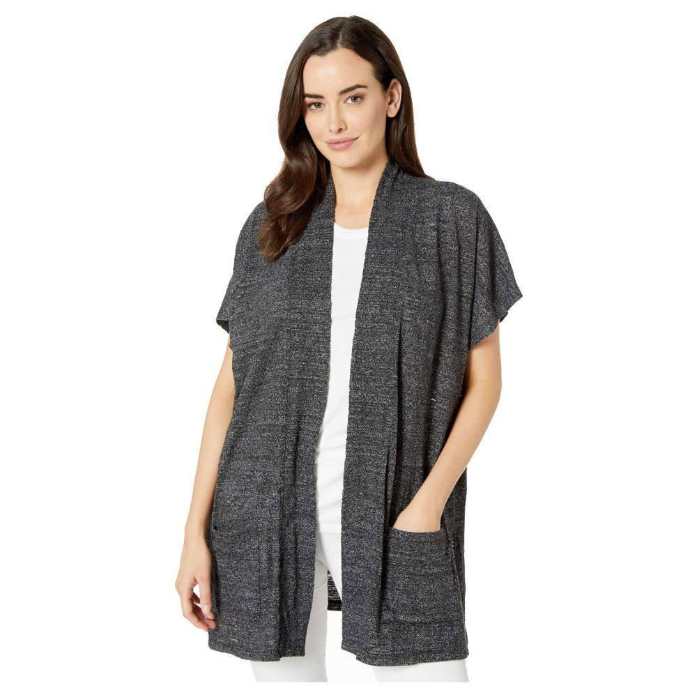 モドオードック Mod-o-doc レディース カーディガン トップス【Soft and Slubby Sweater Open Front Short Sleeve Boxy Cardigan】Black