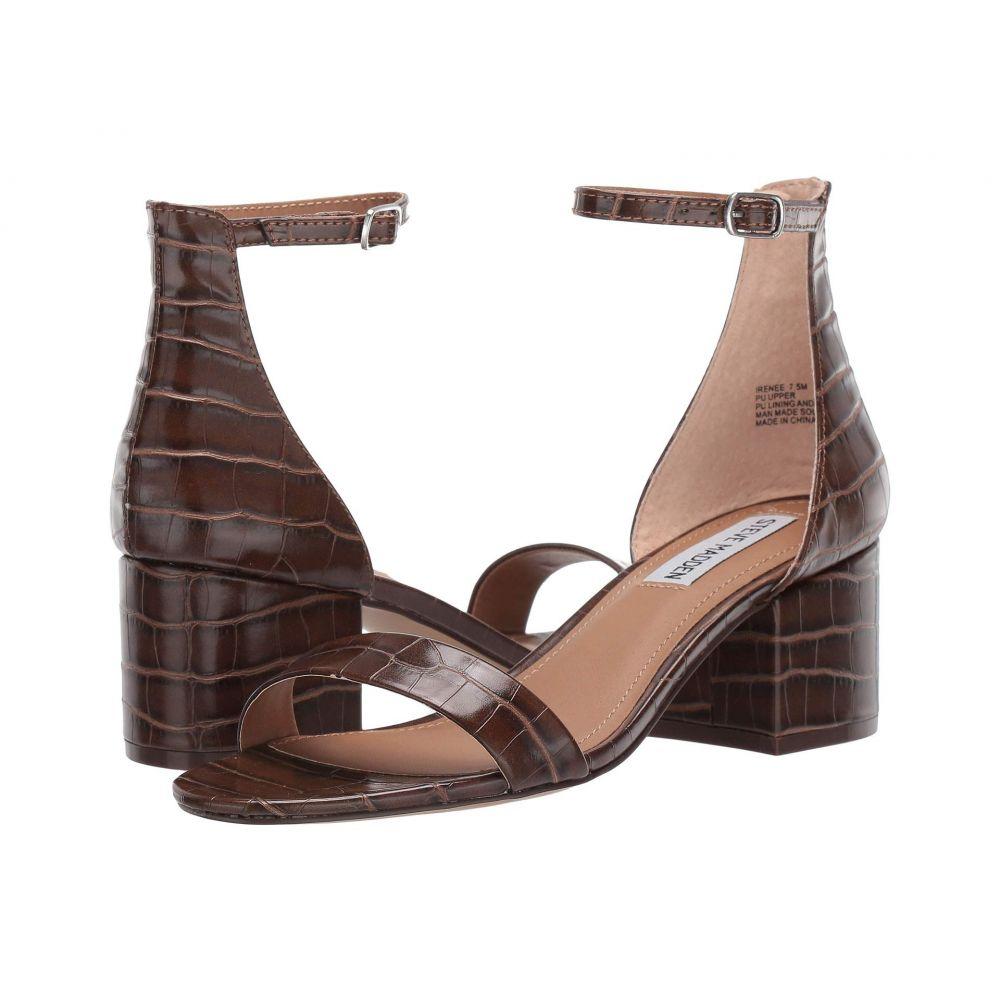 スティーブ マデン Steve Madden レディース サンダル・ミュール シューズ・靴【Irenee Sandal】Brown Croco