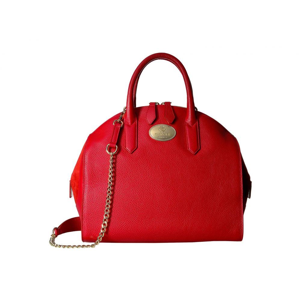 ロベルト カヴァリ Roberto Cavalli レディース ハンドバッグ ボーリングバッグ バッグ【Bowling Bag】Red