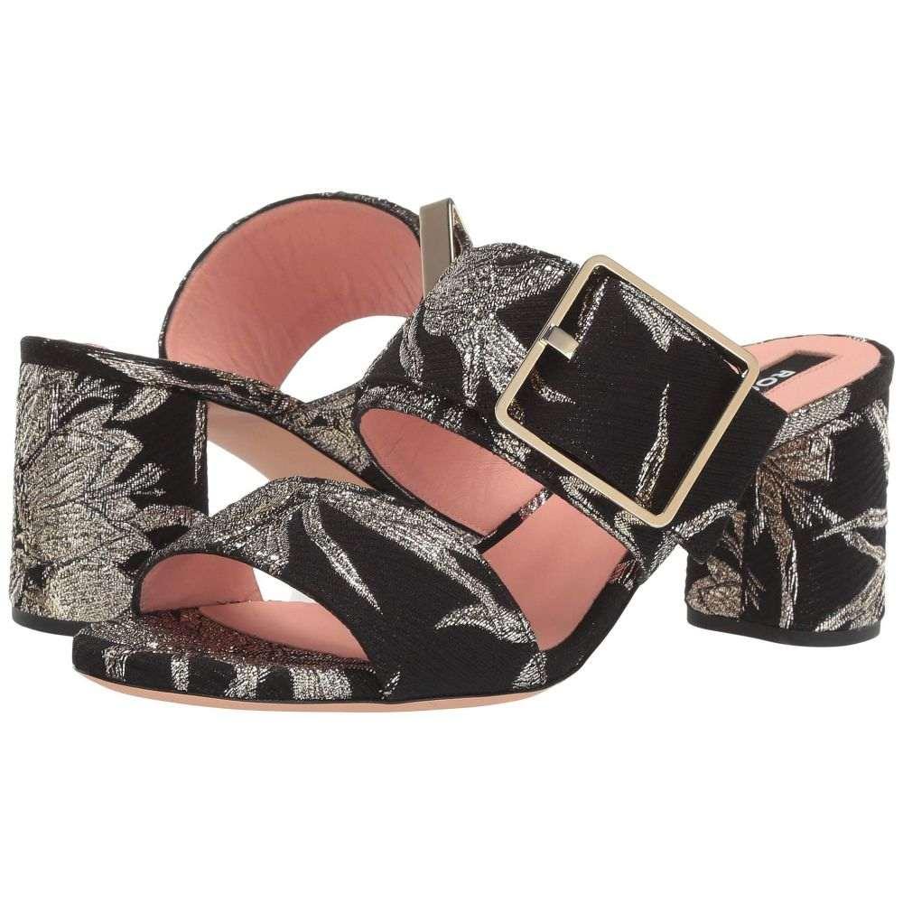 ロシャス Rochas レディース サンダル・ミュール シューズ・靴【RO33051B】Broccato Ninfee/Nero Oro Softy