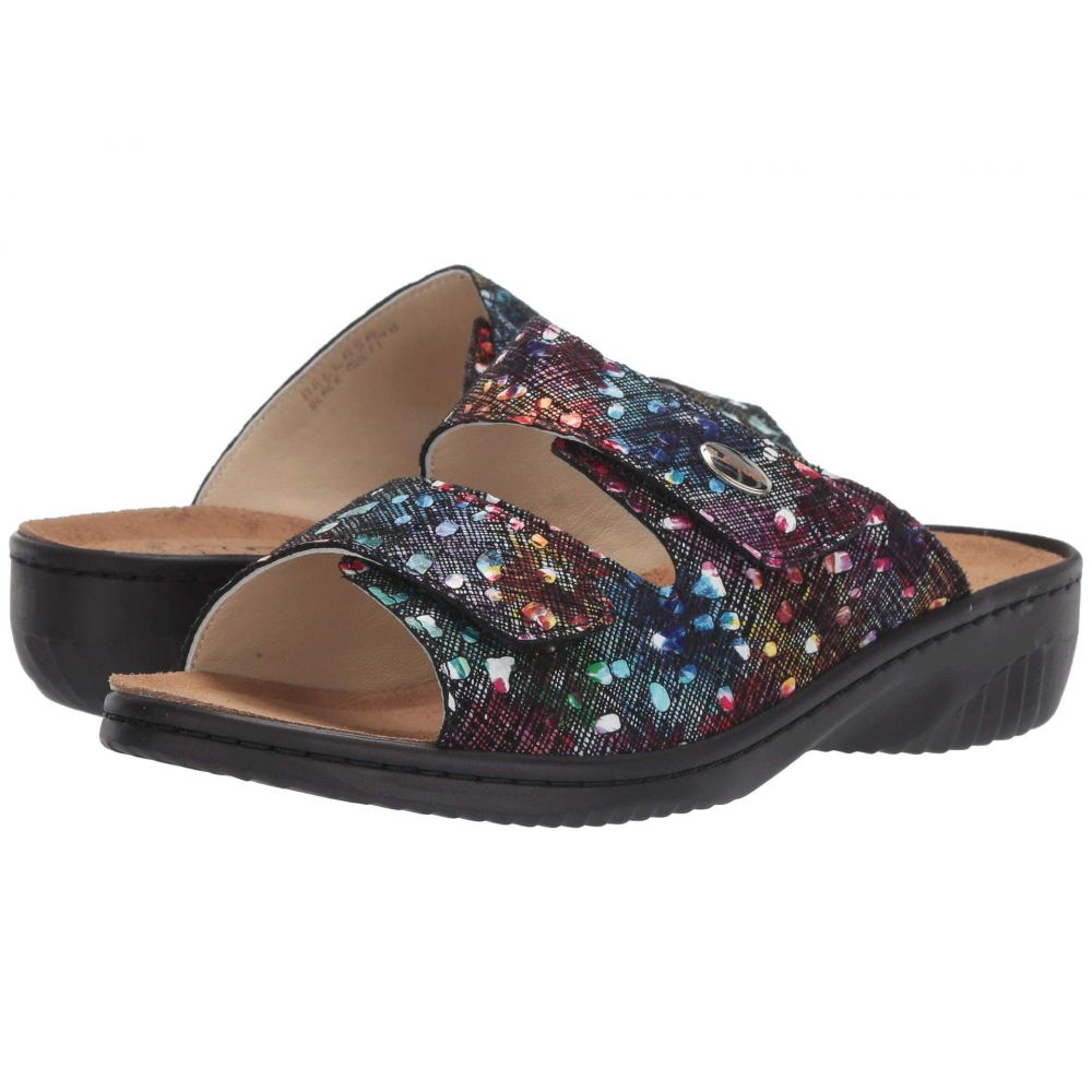 スプリングステップ Spring Step レディース サンダル・ミュール シューズ・靴【Bellasa】Black Multi