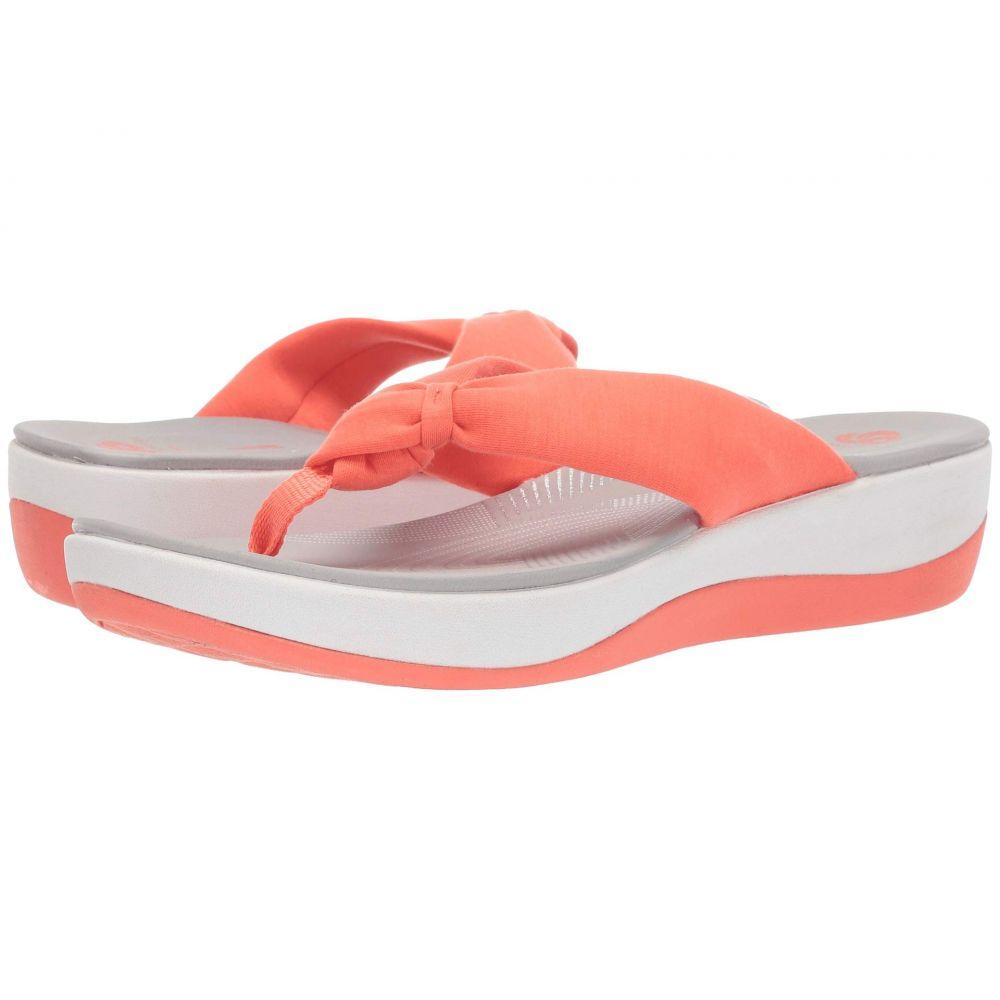 クラークス Clarks レディース ビーチサンダル シューズ・靴【Arla Glison】Bright Coral Solid Textile