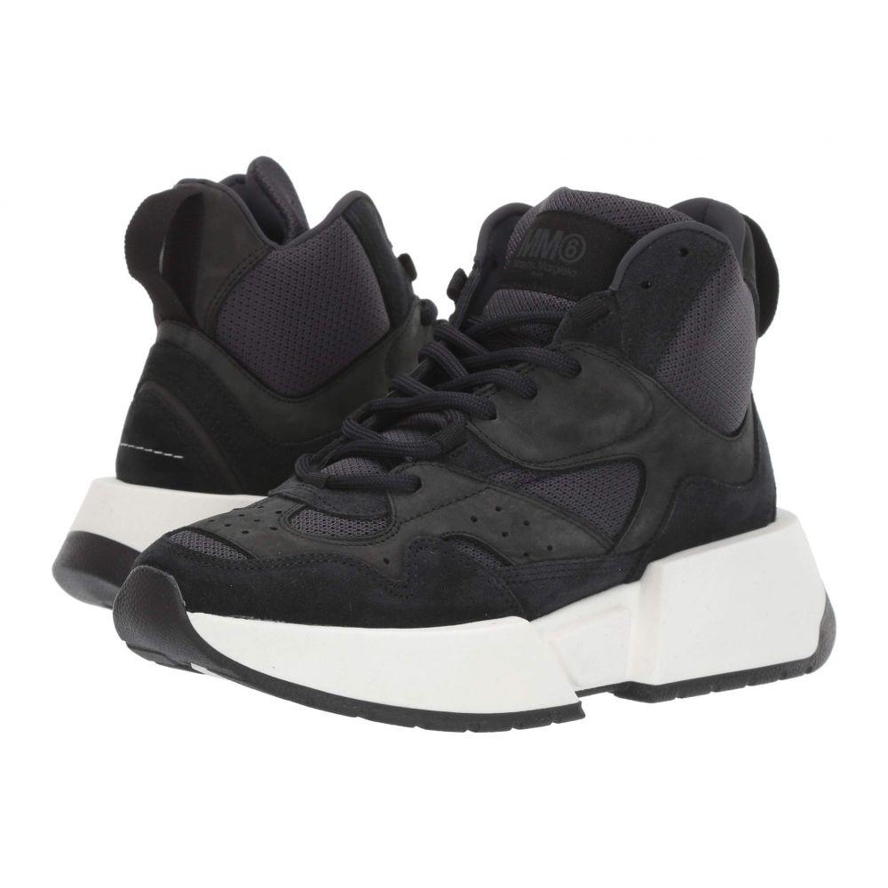 メゾン マルジェラ MM6 Maison Margiela レディース スニーカー ハイカット シューズ・靴【High Top Flare Sneaker】Black