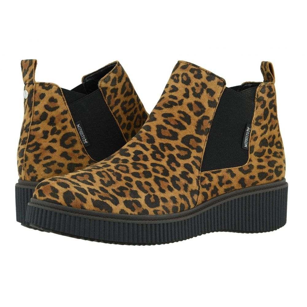 メフィスト Mephisto レディース ブーツ シューズ・靴【Emie】Dark Brown Leopardo