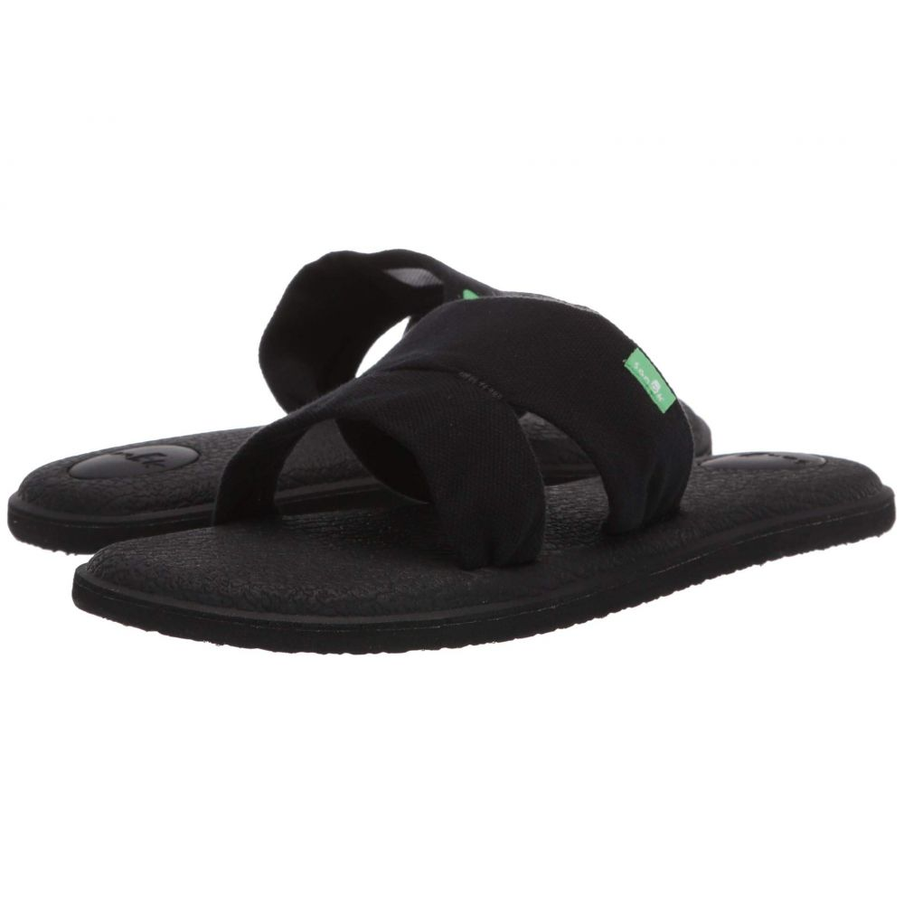 サヌーク Sanuk レディース ヨガ・ピラティス クロップド シューズ・靴【Yoga Mat Capri】Black