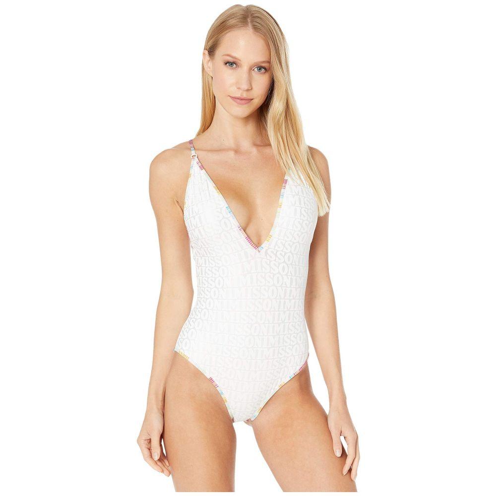ミッソーニ Missoni Mare レディース ワンピース 水着・ビーチウェア【Matte Foil Printed One-Piece Swimsuit】White