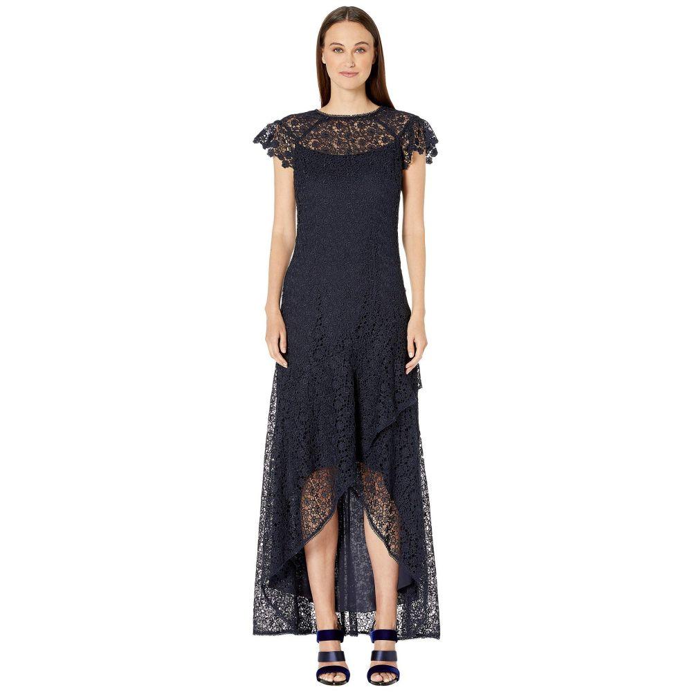 モニーク ルイリエ ML Monique Lhuillier レディース ワンピース ワンピース・ドレス【High-Low Ruffle Dress】Navy