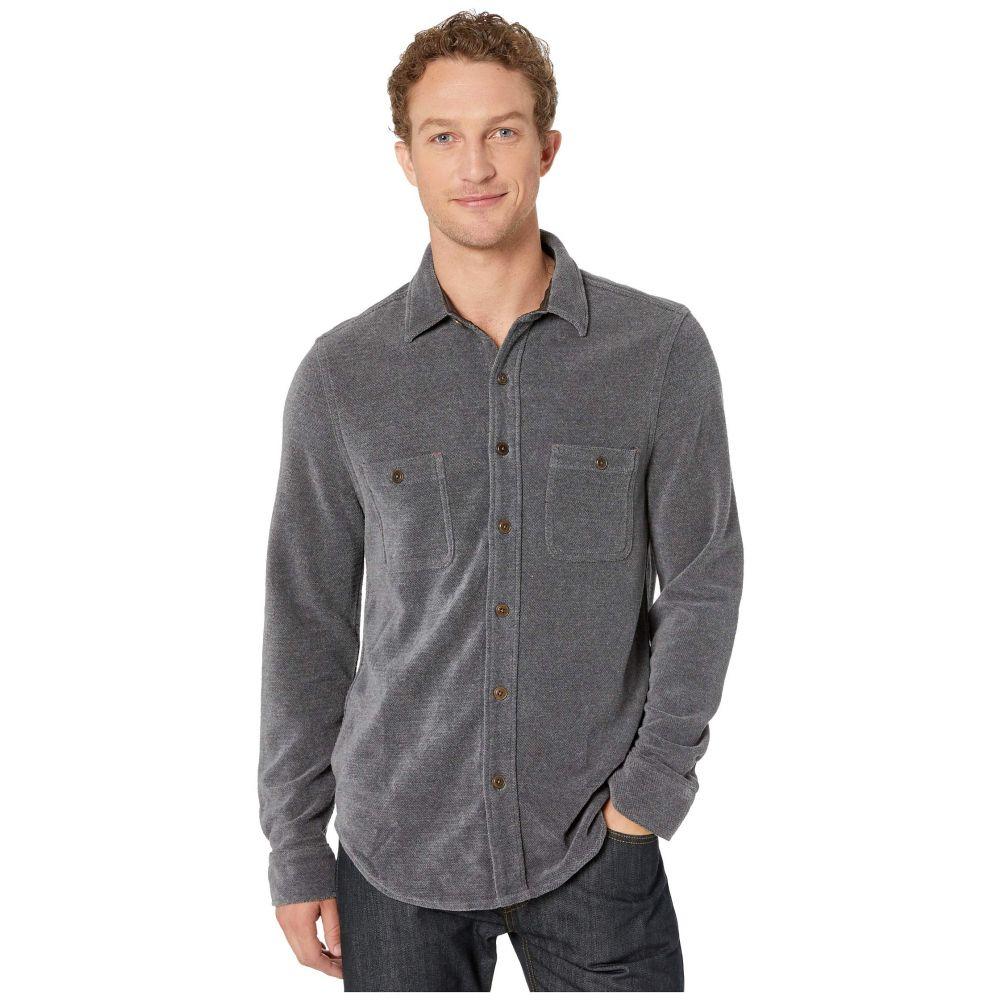 トゥルーグリット True Grit メンズ ジャケット シャツジャケット アウター【Softest Chenille Long Sleeve Two-Pocket Shirt Jacket】Charcoal